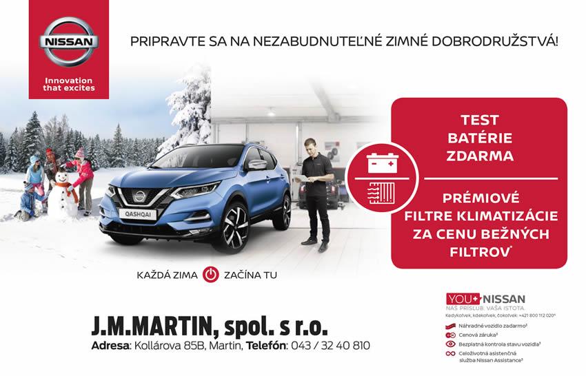 Servisné akcie NISSAN JM Martin